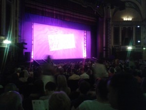 Curtain Up as the second half of Legally Blonde began.